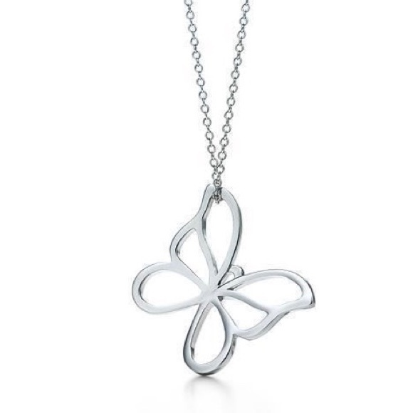"""c0dec55ee Tiffany sterling silver butterfly necklace, 18"""". M_5b58ff8f81bbc8d13f28be87"""